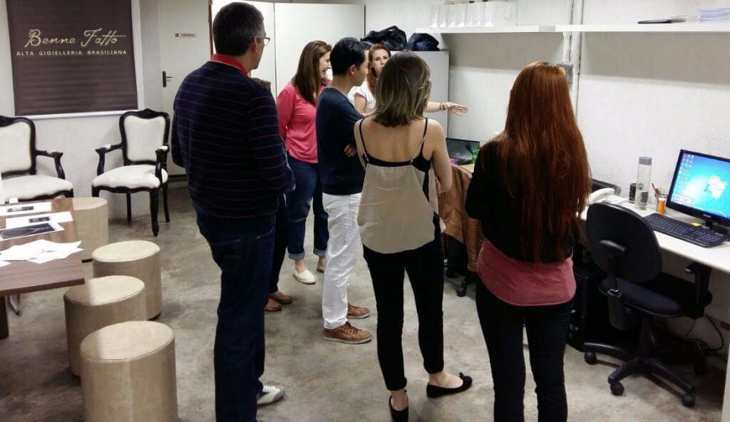Estudantes da espaço mix visitam a Benne Fatto