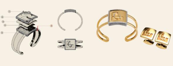 Projeto de bracelete com logo personalizado realizado pela Benne Fatto